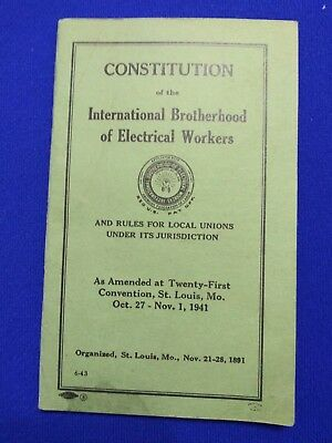 Constitution of the International Brotherhood of Electric Workers