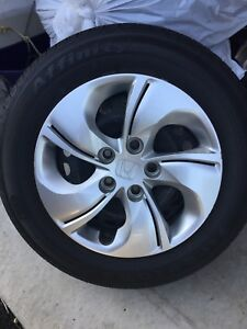 All Season Tire Set on Rims