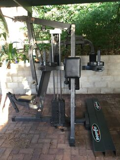 Home gym exercise system chest press, lat Pulldown and more