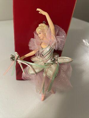 Hallmark Keepsake ORNAMENT Barbie Peppermint Candy Cane 2004 EUC Look