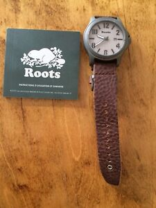 Brand new Roots Leather Strap Watch