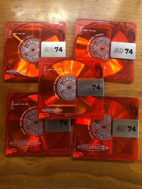 10 - HiSpace Color Collection  RED 74 Minute Minidiscs