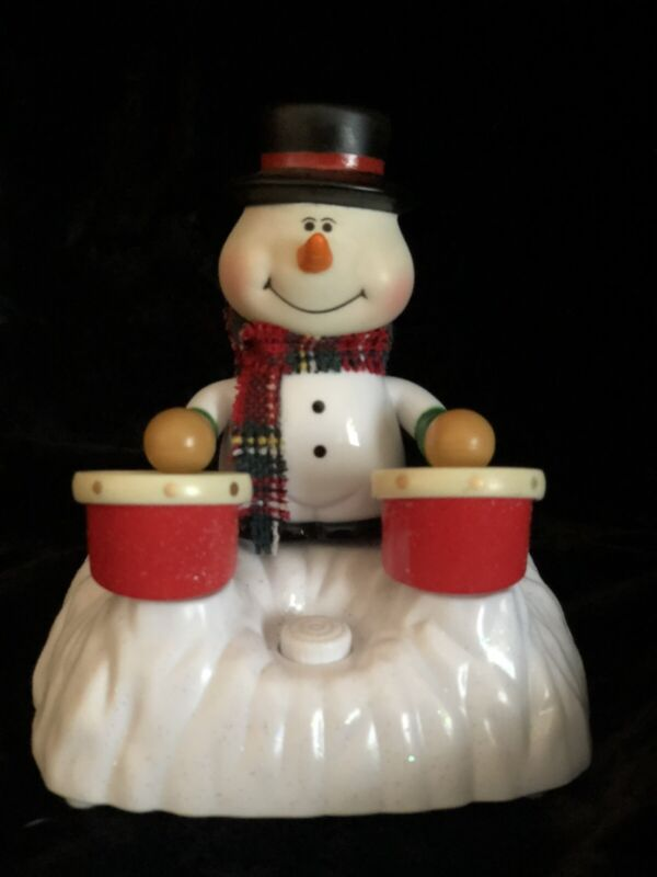 Chain Fong Snowman Animated Playing Drums Bongos Plays Christmas Music Musical