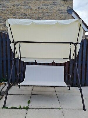 3 Seater Garden Swing With Hammock Cover