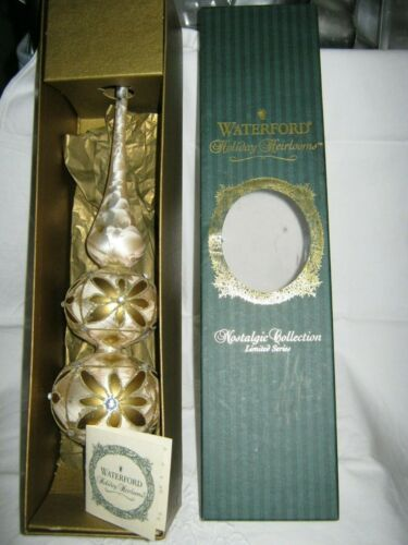 """WATERFORD HOLIDAY HEIRLOOMS NOSTALGIC COLL. KYLEMORE TREE TOPPER 14"""" W BOX"""