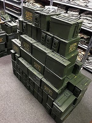 10 US Military Issued 30 Cal (M19A1) Ammo Can Box .30 Caliber Surplus Ammunition