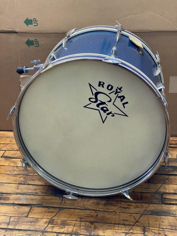 "Vintage Tama Royal Star Japan Bass Drum - Blue Sparkle - 20"" x 18"""