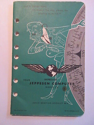 Vintage Jeppesen Model  Flight Computer booklet INSTRUCTION GUIDE 1960