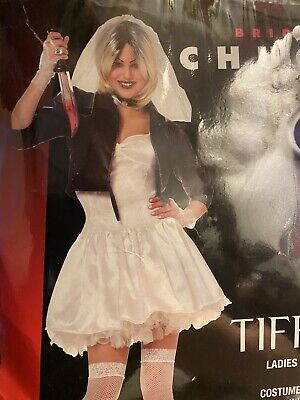 Bride Of Chucky Costume (Tiffany Bride of Chucky Costume Adult Scary Halloween Fancy Dress Horror)