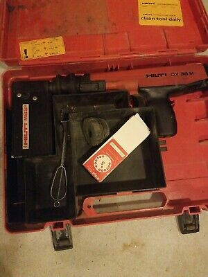 Hilti Dx36m Powder Actuated Nail Gun With M62 Magazine Case And Full Box Red