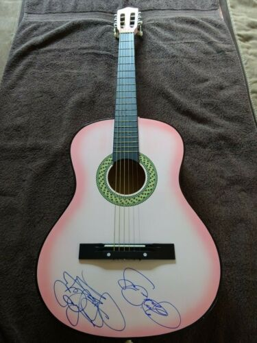 Lisa Marie Presley and Priscilla Presley autographed / signed Acoustic Guitar