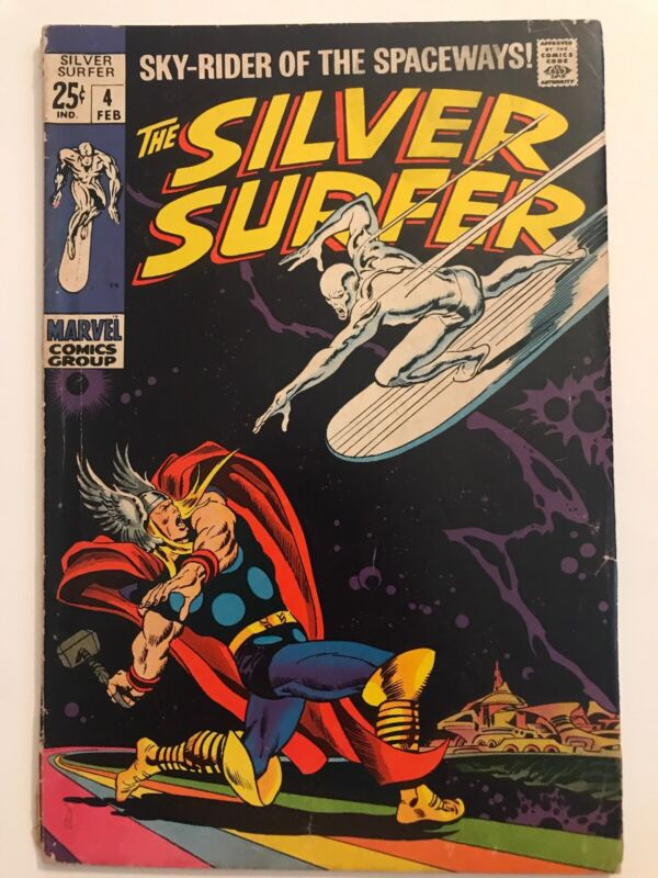 SILVER SURFER #4   THOR Vs SURFER   VG