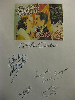 Camille 1936 Signed Film Script Greta Garbo Robert Taylor Lionel Barrymore repnt