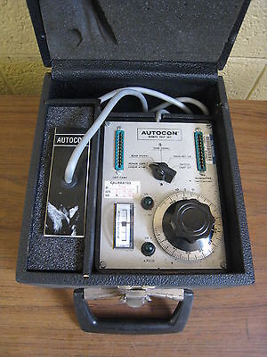Vintage Autocon Model 8208ts Test Set In Case Used Free Shipping