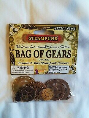 Forum Steampunk Bag Of Gears 20pc Costume Accessory, Bronze Victorian Cosplay
