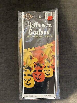Vintage Beistle Halloween Garland Art Tissue Decoration 1986