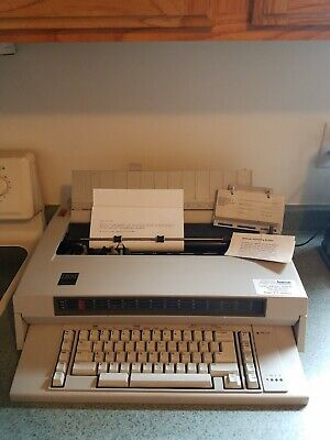 Ibm Selectric System2000 Wheelwriter 3 Typewriter With Instructions Paper Guide