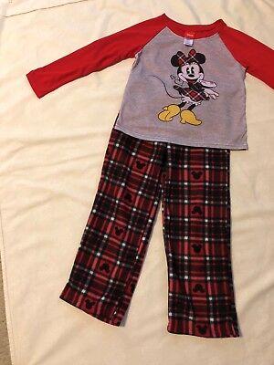 Disney/Minnie Mouse Jammies for your Families Pjs, 2pc Set, Long Sleeve/Leg: Sz6 - Disney Jammies