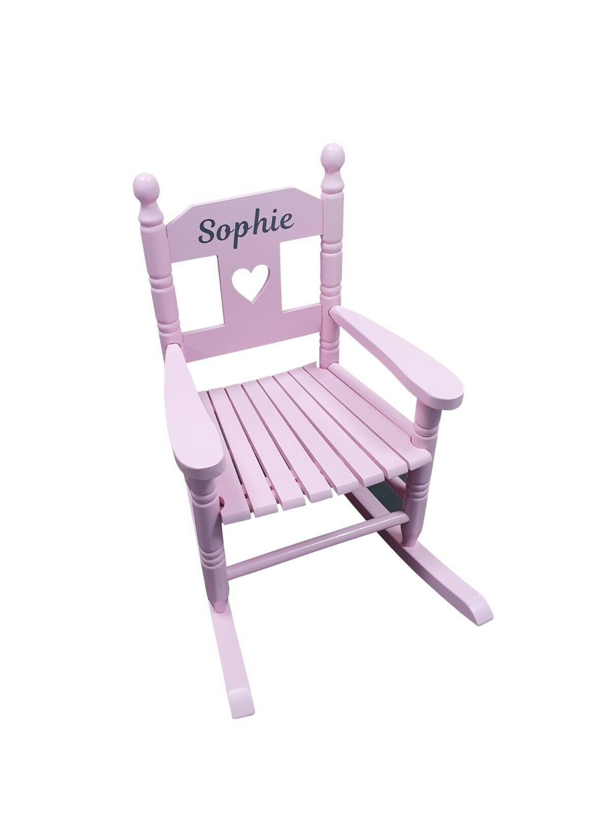 Details about Pink Personalised Kids Chair Rocking Chairs Nursery Toddler Armchair Childrens