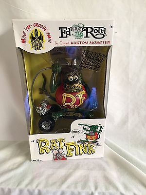 RAT FINK (RED) ON SKATEBOARD  BIG DADDY ED ROTH new and sealed (BH)