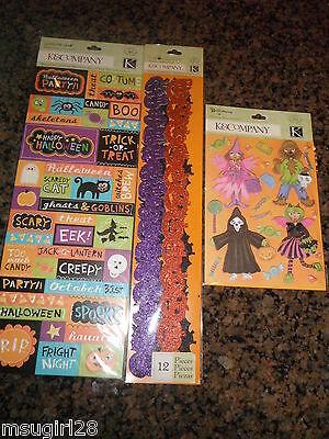NIP K & Company halloween stickers, borders (Halloween Borders)