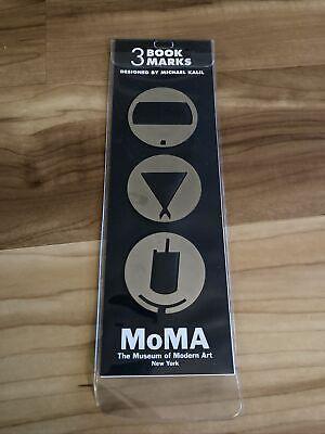 MOMA Bookmarks, Michael Kalil Solid Brass geometric art 1996 New