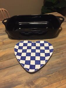 Casserole dish and side plate