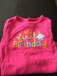 Carters 1st bday onesie size 24M