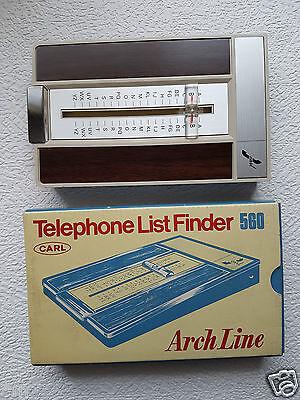 Telefonregister, Holzoptik, CARL 560 Arch Line, Telephone List Finder #179