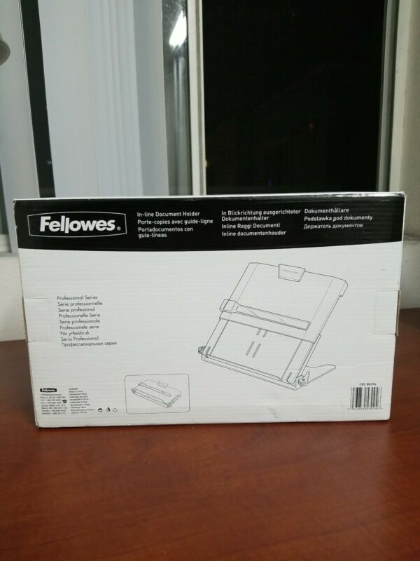 New! FELLOWES 8039401 In-Line Document Holder,Monitor/Keyboard