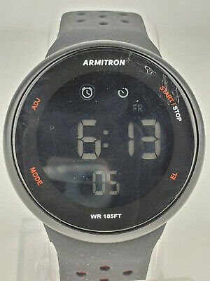 NEW Armitron Sport Unisex 40/8423BRDWM Digital Chronograph Silicone Strap Watch