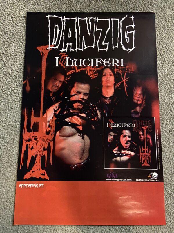 Danzig 777 I Luciferi Official Tour Gig Promo Poster 11x17 2002 Evilive Samhain