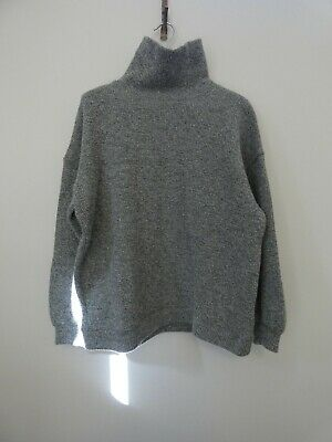 Orone オローネ Japan Made Wool Cotton Turtle Warm Jumper RRP$264 as New