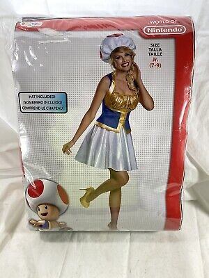 NEW Girls Mario Brothers TOAD Costume Dress Vest - Mario Brothers Toad Kostüme