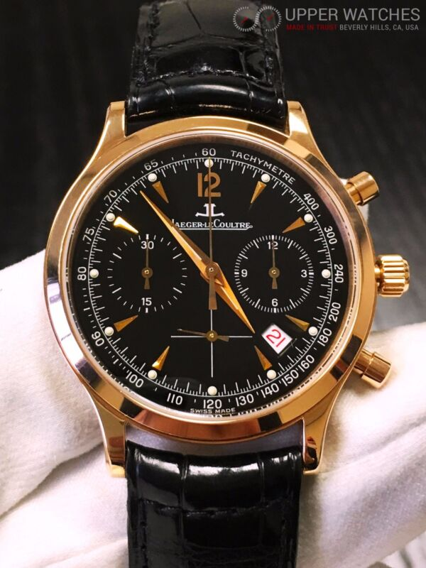 Jaeger LeCoultre Master Chronograph 18k Rose Gold  ref. 145.2.31 - watch picture 1