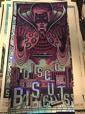 The Disco Biscuits Poster Print Las Vegas Halloween Jim Mazza Foil Night
