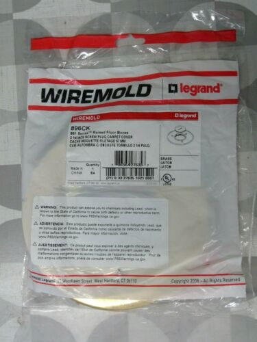 """Wiremold 896CK 861 Series 2-1/4"""" Screw Plug Carpet Cover **Free Shipping**"""
