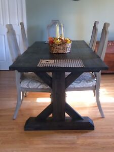Rustic solid wood table