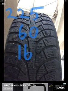 225/60R16 HANKOOK  102T winter tire  450-639-1839 text pls