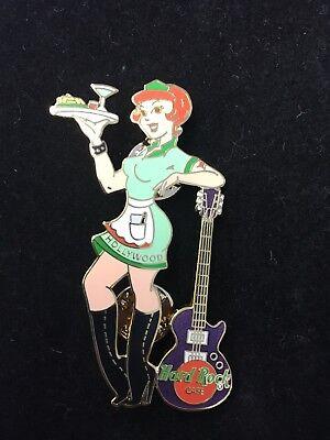 Martini Guitar - HOLLYWOOD WAITRESS GUITAR MARTINI 2001 HARD ROCK CAFE PIN