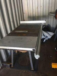 Industrial portable table saw