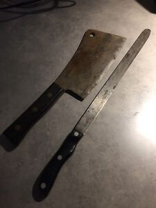 Carbon steel carver and cleaver