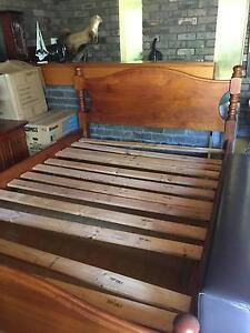 Queen Bed Wooden Frame Cronulla Sutherland Area Preview
