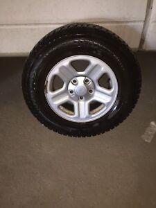 4pneus hivers avec jantes pour jeep wrangler