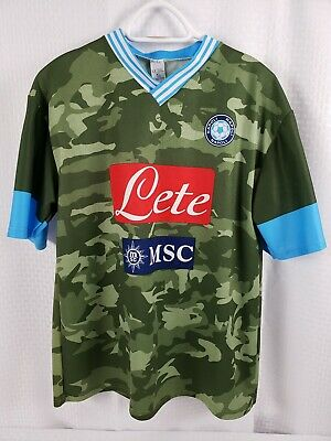 S.S.C. Napoli Camouflage Jersey Men's Size Extra Large (please see size notes) for sale  Shipping to Canada