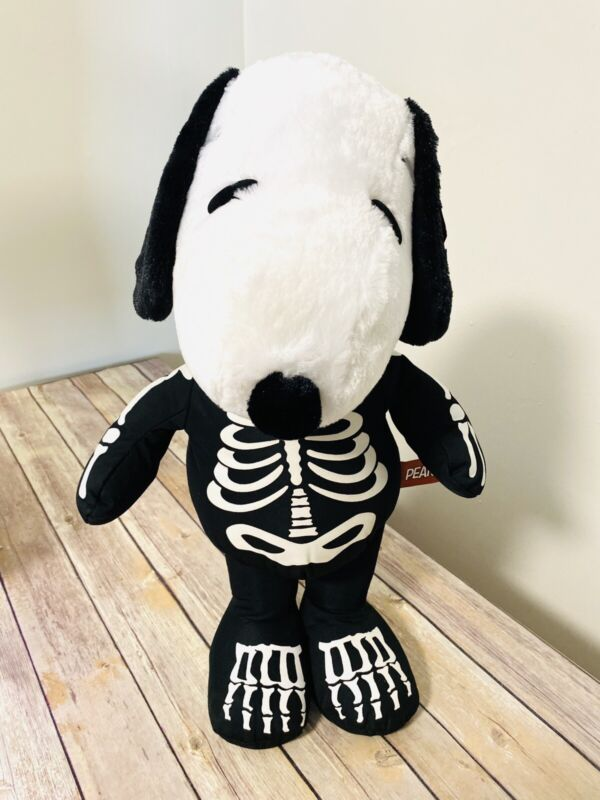 """Snoopy Peanuts Halloween Skeleton Plush 19"""" Stands On Own"""