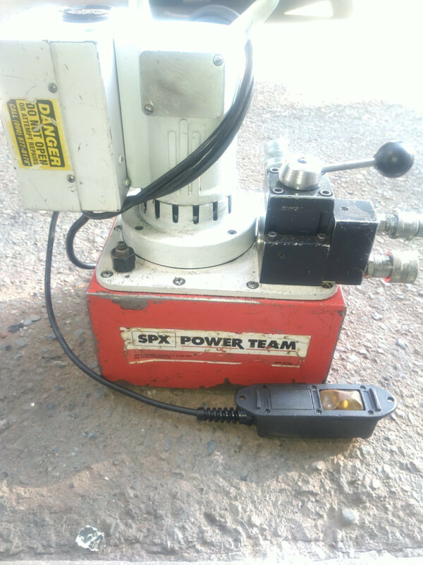 SPX Power Team Portable Electric Two Stage Hydraulic Pump PA550 Cat. No 65408