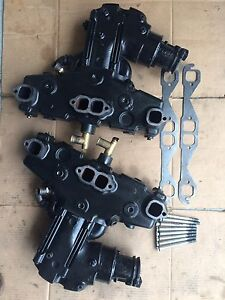 Mercruiser dry joint exhaust manifolds with elbows