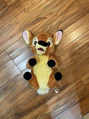 "Bambi Plush 11"" Long Disney Babies Parks Exclusive Stuffed Animal Soft Brown Toy"