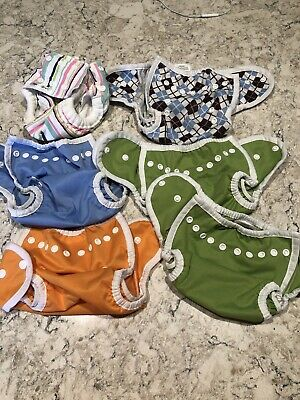 Newborn Thirsties Cloth Diaper Covers and Baby Soft Wraps Cover Size Small Lot Small Cloth Diaper